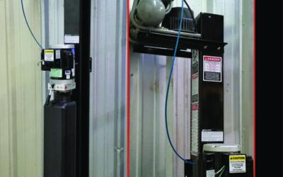 Post Mounted Mini Air Compressor